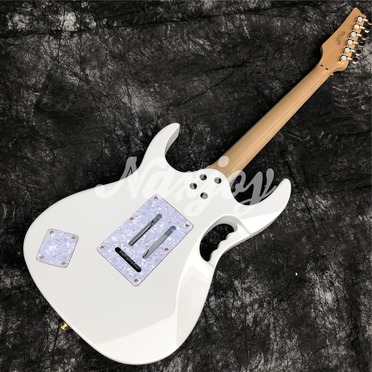 Top Quality Tree Of Life Inlays White Color Electric Guitar,Golded Hardware Solid wood Electric Guitar enlarge
