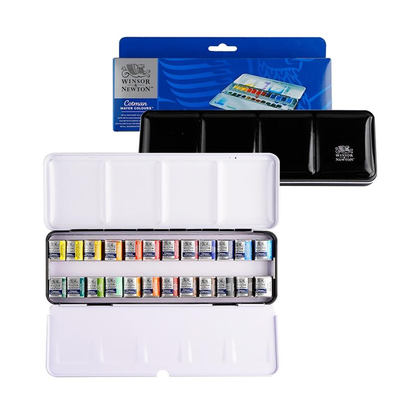 Winsor&Newton cotman solid WaterColor Pigment 12/24 colors half pans  drawing supplies