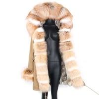 2021 winter brand coat women luxury clothes real fox fur jackets waterproof long parka detachable outerwear new fashion