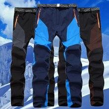 Hommes hiver poisson chaud Softshell polaire pantalon Ski en plein air Sport randonnée pantalon Camp escalade Trek Ski montagne mâle vêtements imperméables