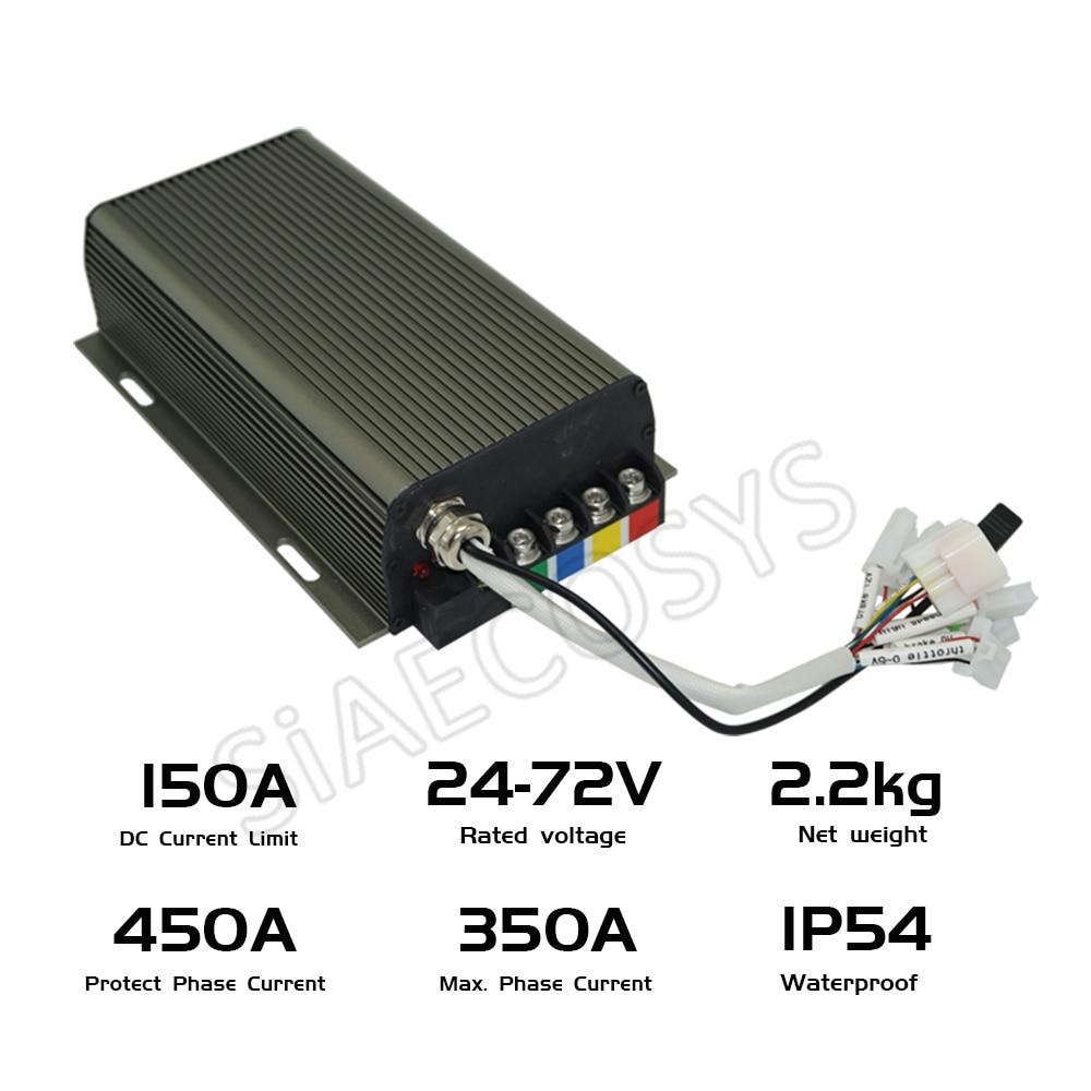 Sabvoton SVMC72150 72v 150A Sine Wave Controller For 3000w 4000w BLDC Hub Motor For Electric Scooter/E-Bike enlarge