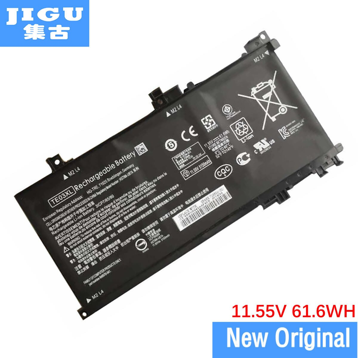 JIGU 11.55V 61.6WH TE03061XL TE03XL 849910-850 الأصلي بطارية كمبيوتر محمول ل HP 15-AX000NA 15-AX003NJ 15-AX004NB 15-AX002NI