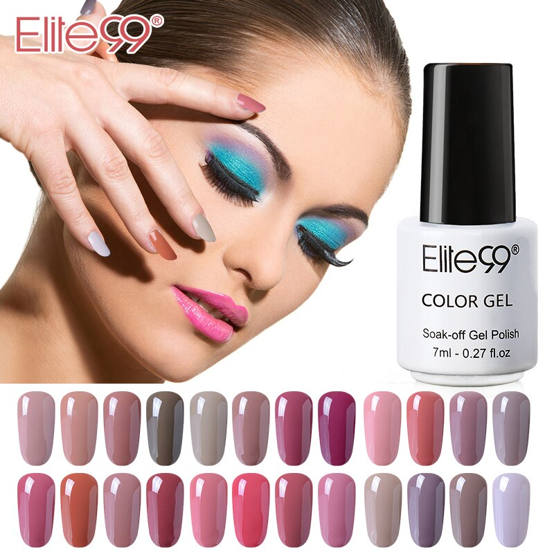 Elite99 Nude 7ml Gel uv nail Polish led Gel Varnish Nail Art Manicure Polish Primer Nail Gel Lacquer extensions