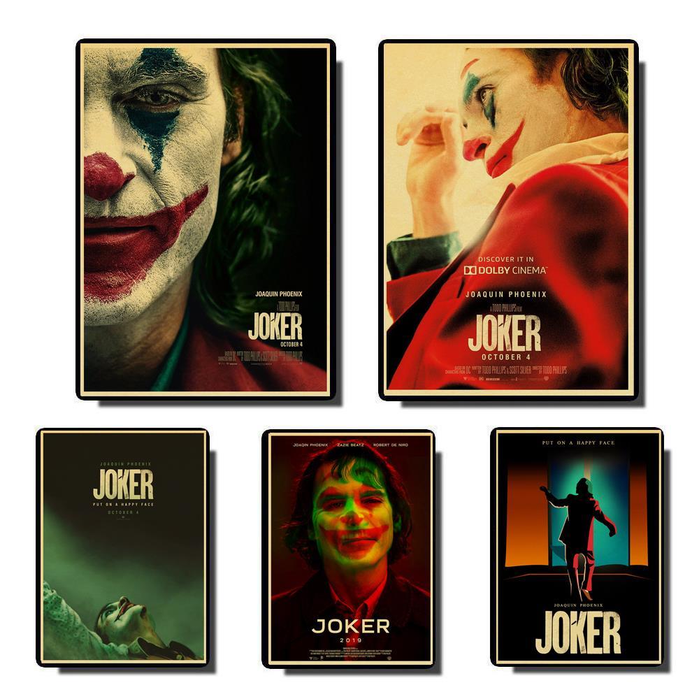 Joaquin-peinture murale de bande dessinée Joker   Affiche rétro imprimée sur le café, phénix Joker, 2019 DC, décoration de la maison, Halloween