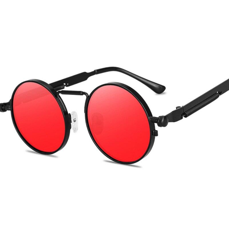 Gafas De Sol clásicas De diseñador simple, Gafas redondas Steampunk para mujeres y hombres, Gafas De Sol con círculo gótico a la moda, Gafas De Sol UV400