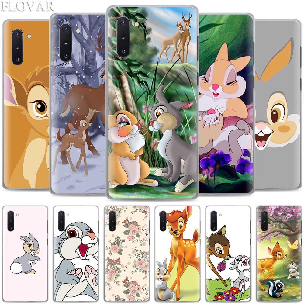 Бэмби Thumper телефонные чехлы для samsung Galaxy Note 10 S10 плюс 5G S10e A30 A40 A50 A60 A70 M40 жесткий чехол
