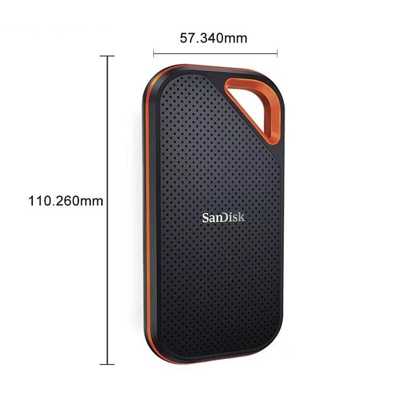 SanDisk-unidad de estado sólido E81, 1TB, SSD externo portátil de2TB, NVMe, alta velocidad de lectura de hasta 2000MB/s, USB 3.1 enlarge