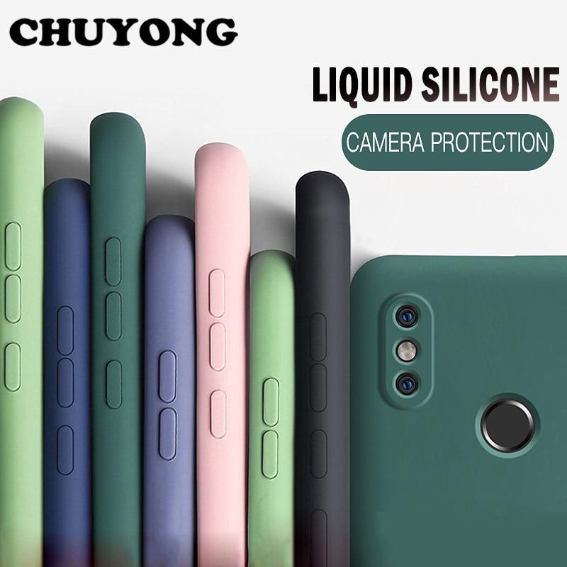 Funda de teléfono de silicona líquida suave para Redmi Note 9 9 S 8 7 10X K30 Pro funda para Xiaomi Mi Note 10 Lite 9 SE