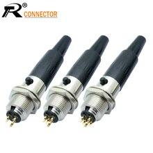 10 مجموعات البسيطة XLR 3 4 5 دبوس المكونات الإناث + الذكور مقبس صغير XLR الصوت ميكروفون موصل MIC ل كابل لحام مستقيم