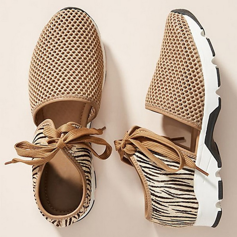 Nuevos Zapatos planos para Mujer, Primavera Verano 2020, Zapatos planos De malla para Mujer, zapatillas transpirables suaves para Mujer, Zapatos informales De Mujer