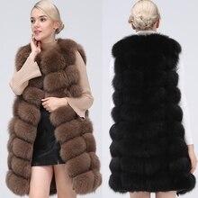 Chaleco Natural de piel de zorro Real, abrigo de piel Natural para chaqueta, chaleco de abrigo femenino, abrigos de piel largos, abrigo de piel Real, chaqueta Chaleco de zorro