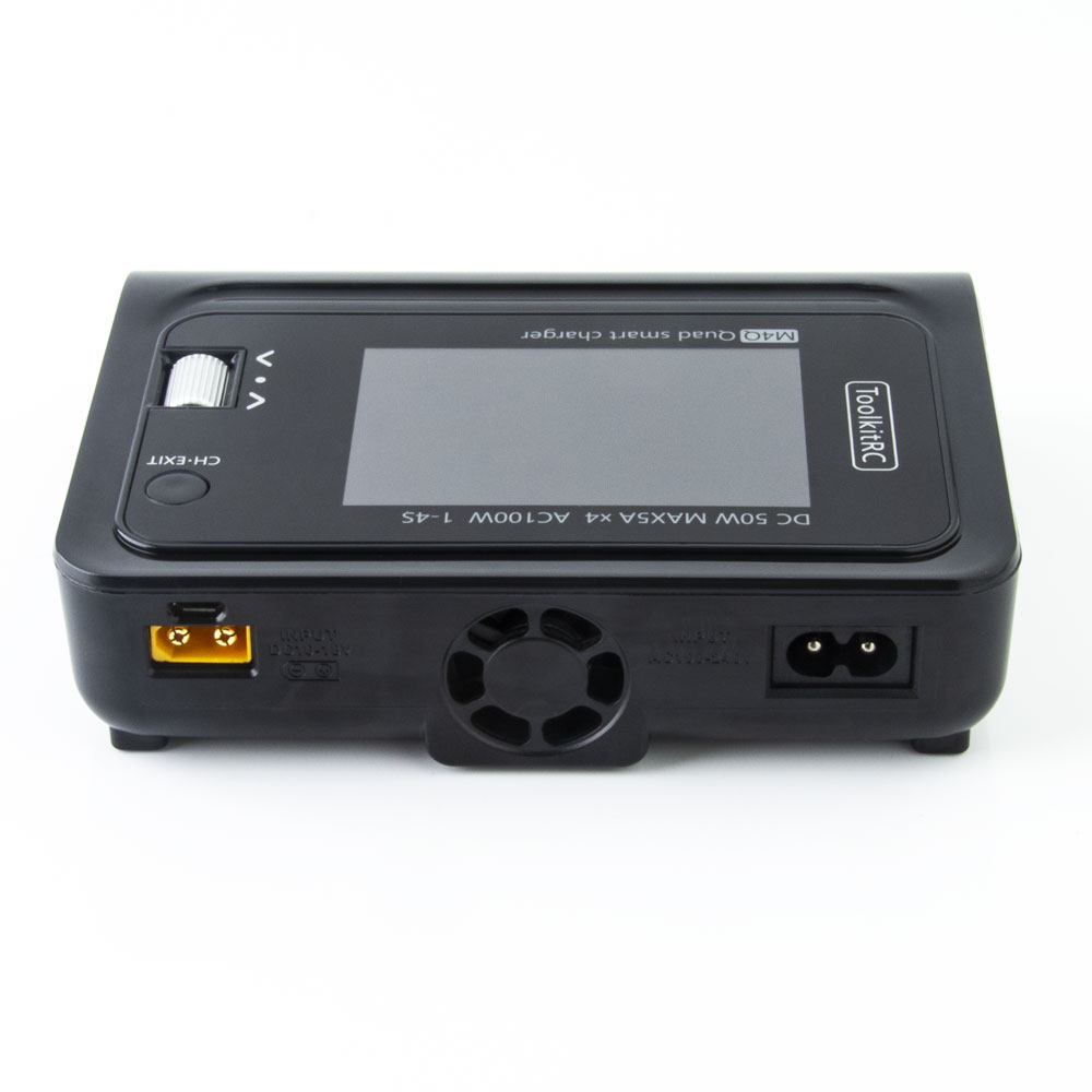 In Stock ToolkitRC M4Q 4x50W 5A AC 100W 4 Port DC XT60/XT30 Optional Smart Charge 32 Bit ARM IPS Bright Clear Wide Angle Display enlarge