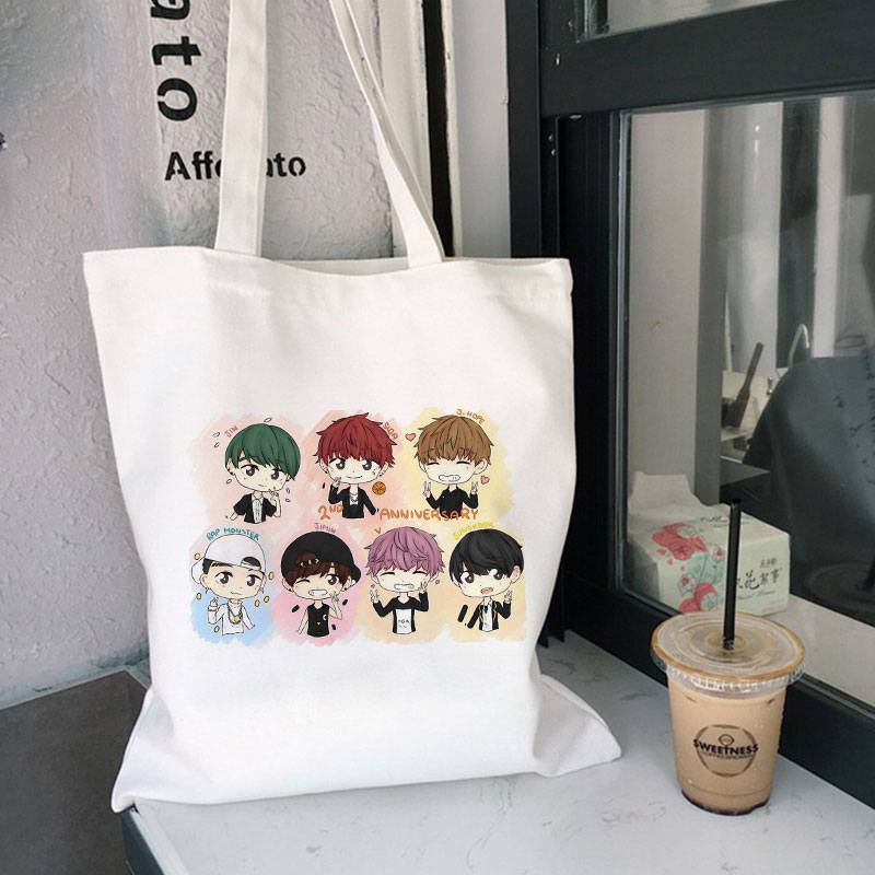 Jungkook kpop crossbody saco suga j esperança feminina saco jin jimin v superior bolsa para coreano moda feminina engraçado sacos de lona ombro