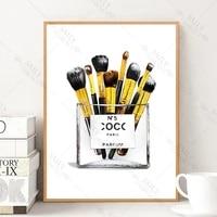 Pinceaux de maquillage a la mode  dessin  Art mural  toile  peinture  affiches et imprimes nordiques  photos murales en Vogue pour decoration de maison