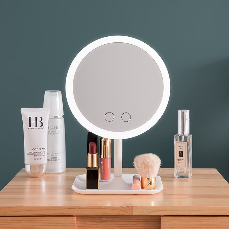 Makeup mirror with led light Dressing table mirror beauty ring light mirror Beauty Tools For Photo f