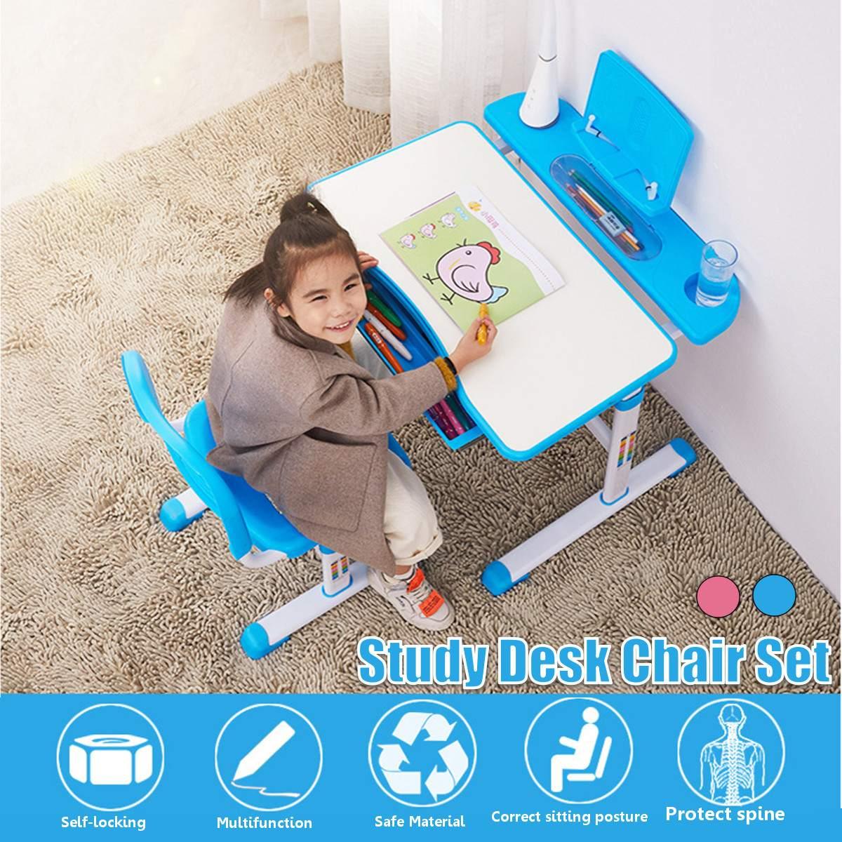 كرسي مكتب منزلي قابل للتعديل للأطفال ، مجموعة طاولة أنشطة فنية ، مكتب دراسة ، شحن سريع في الولايات المتحدة