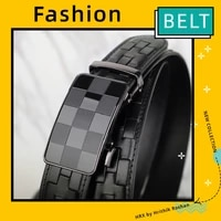 mens belts luxury automatic buckle first layer pure cowhide woven youth business youth fashion designer belts men high quality