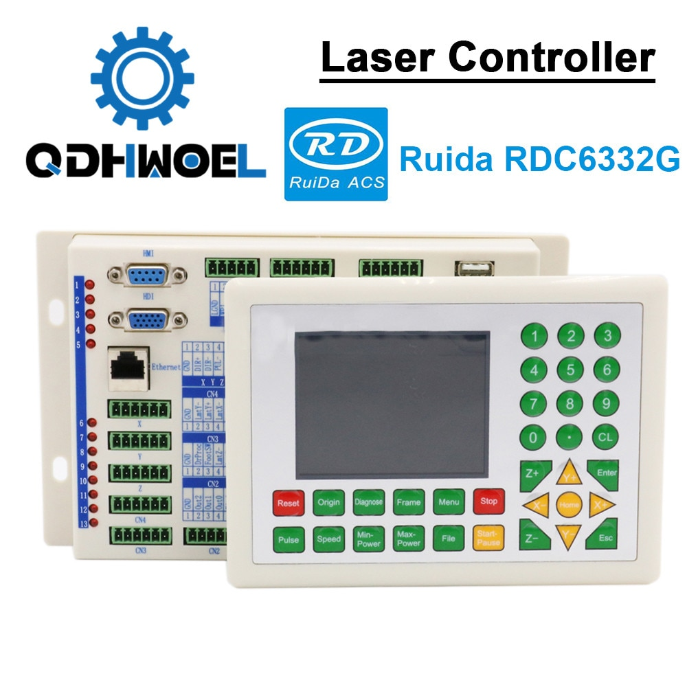 Ruida-وحدة تحكم ليزر DSP ، لآلة النقش والقطع RDC DSP 6332G ، RD RDC6332G Co2