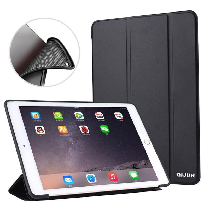 Coque arrière intelligente en cuir TPU souple Ultra mince, pour iPad Air 2, 9.7 pouces 2014, noir, bleu, pour ipad 6 Air2 A1566 A1567