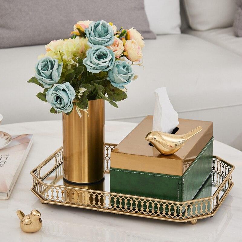 Nueva caja de pañuelos creativa europea para sala de estar, mesa de café, dormitorio, servilleta de comedor, caja con soporte de pájaro ciervo sica, accesorios de decoración del hogar