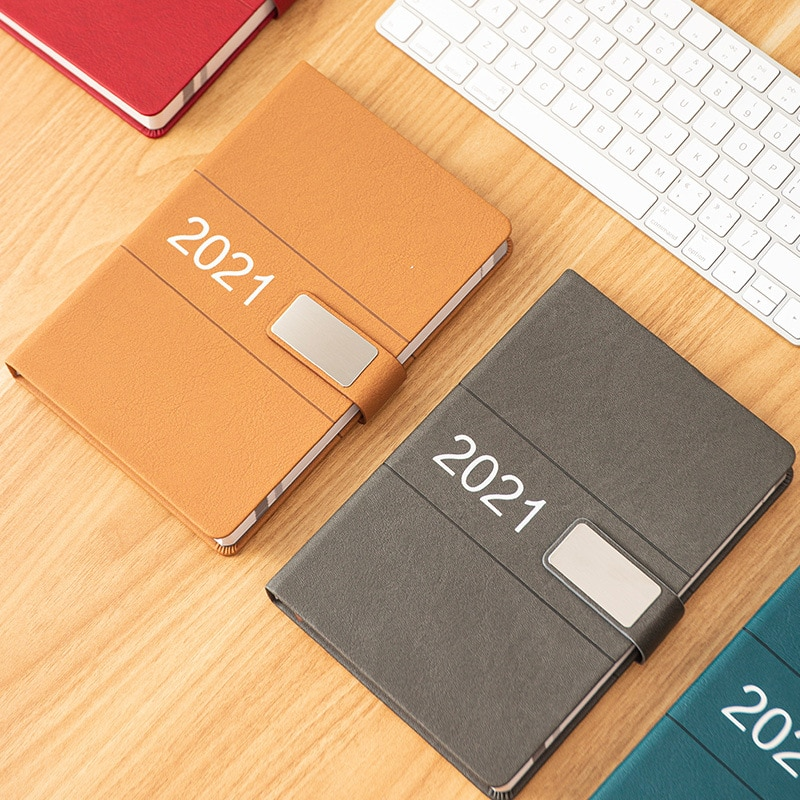 Agenda 2021 Planner Organizer A5 Diary Notepad Plan Office Notebook and Journal 365 Days Calendar Weekly Daily Note Book Plan 2021 planner agenda organizer a5 diary plan notebook and journal office note book weekly calendar daily schedule school notepad