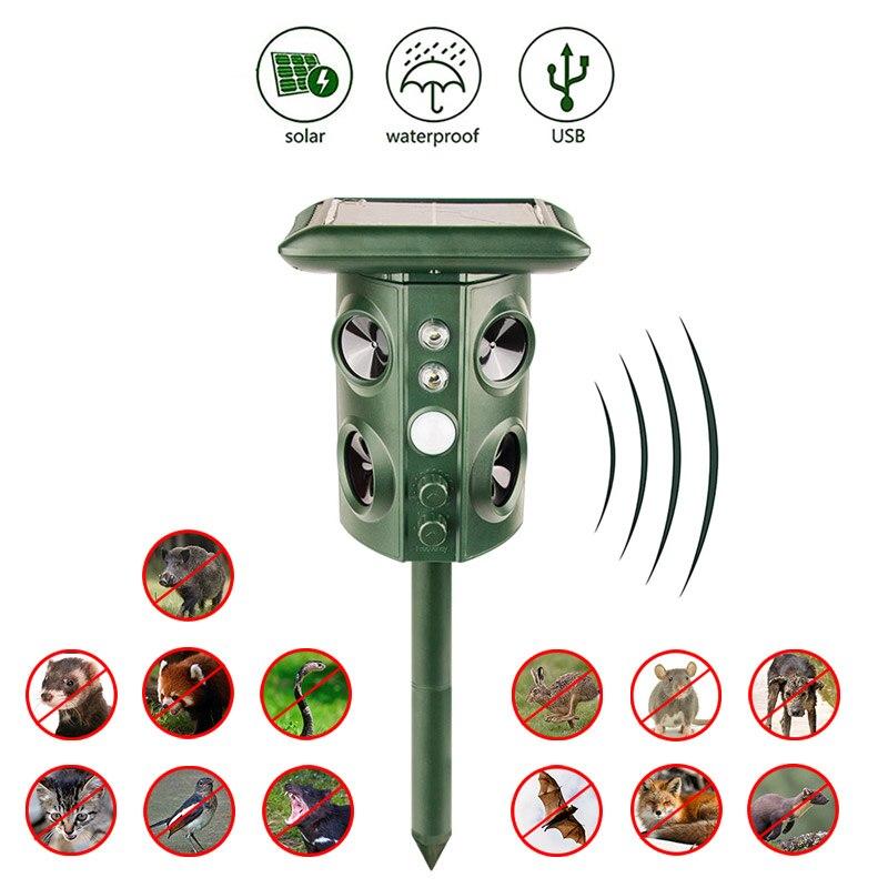 Home Garden Nach Vogel Mückenschutz Outdoor Wetterfest Und Sonne Ultraschall Maus Pest Mole Hund Tier Kakerlake Repeller