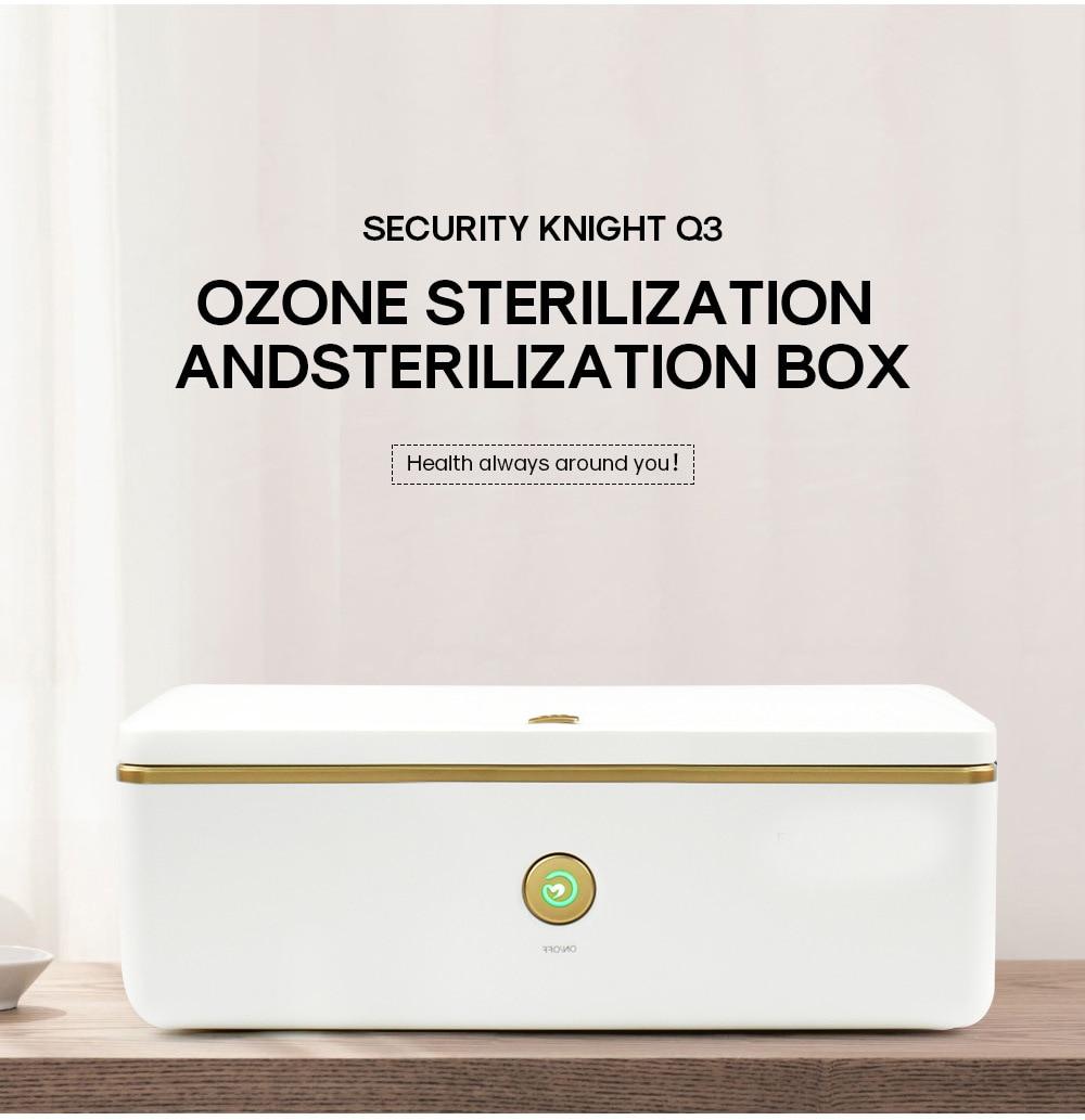 Caja de desinfección portátil UV + ozono 99%, doble esterilización, banda UVC,...