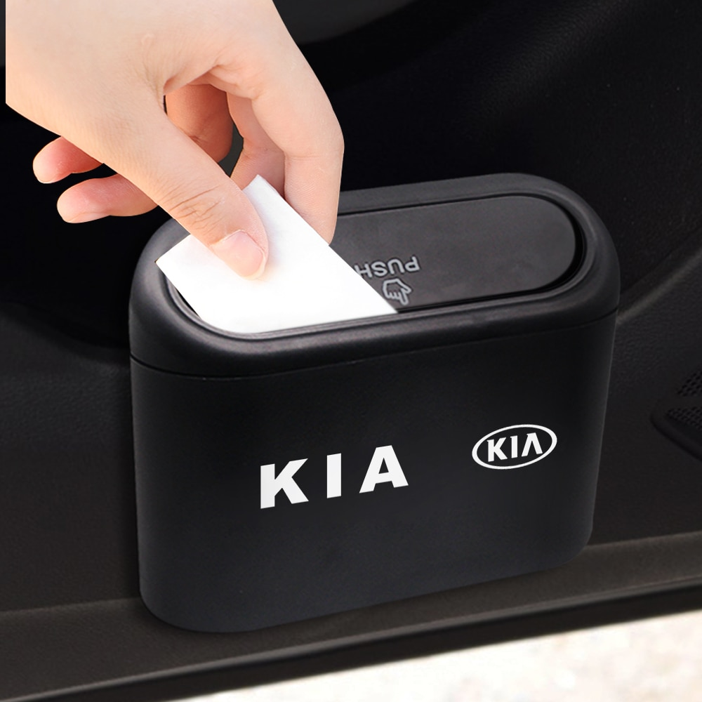 Cubo de basura Universal de gran capacidad, contenedor de basura ABS, portátil, resistente al agua para Toyota BMW, Audi, Mercedes, Benz, Ford
