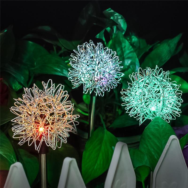 Светодиодный уличный светильник на солнечной батарее с одуванчиком, Декоративная гирлянда для сада, гирлянда для двора, IP65 светильник на со...