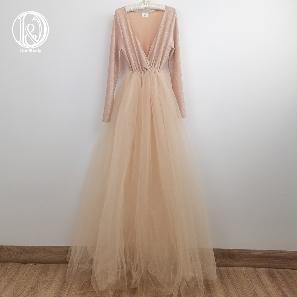 Don&Judy Tulle Maternity Dress Maternity Women Long Puffy Tulle Party Gown Prom Dresses Custom Made For Photography 2021 enlarge
