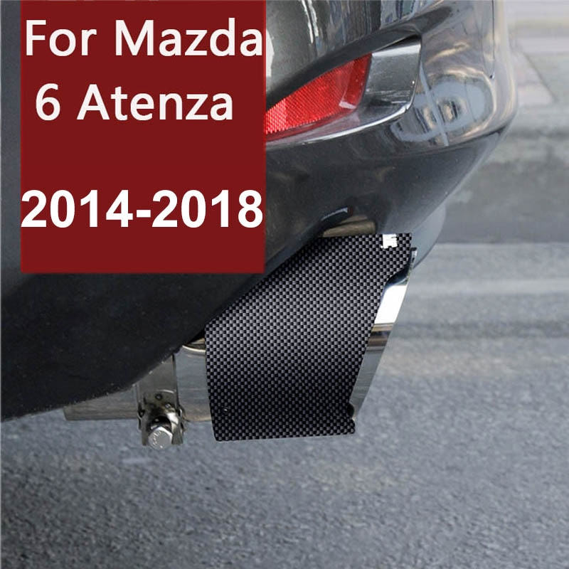 for Mazda 6 Atenza 2018 2017 2016 2015 2014 Car Carbon Fiber Exhaust Muffler Tip Stainless Steel Pipe Trim Car Rear Tail Throat