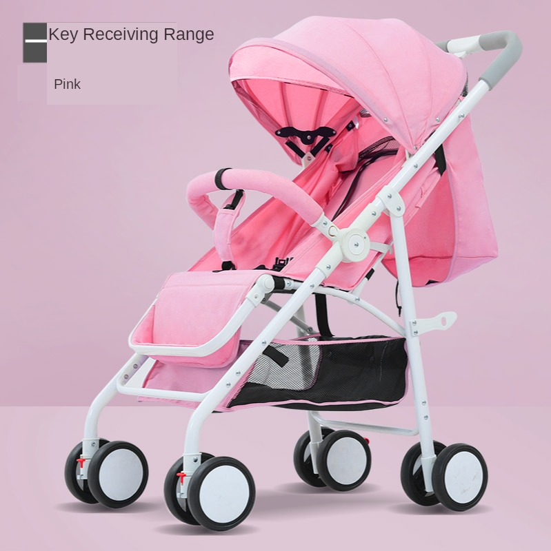 High-view Baby Stroller Can Sit Reclining Lightweight Folding Shock Absorber Baby Umbrella Car Four-wheeled Children Stroller