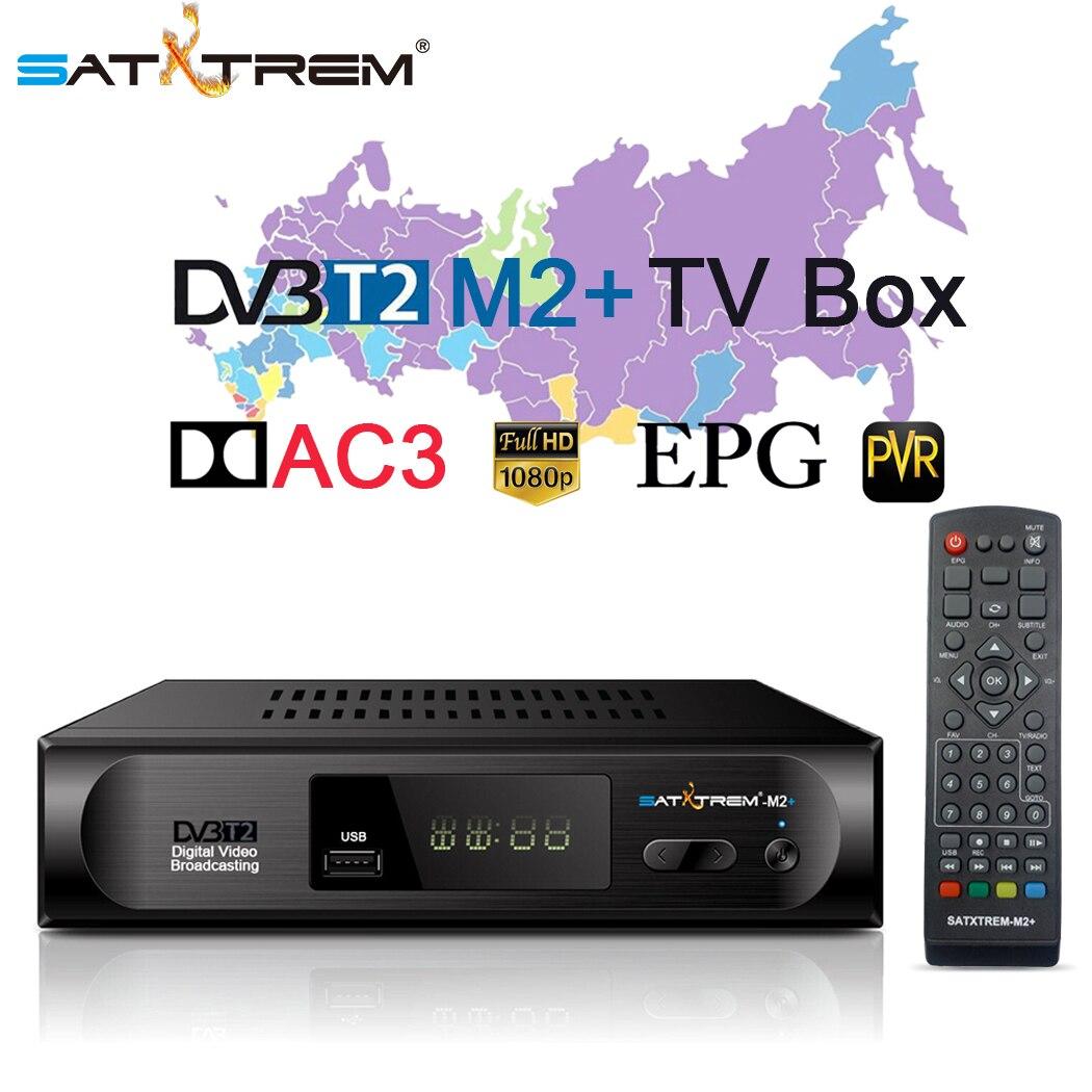 Satxtrem DVB-T2 DVB-C Receptor de TV 1080P sintonizador de TV Digital Receptor...