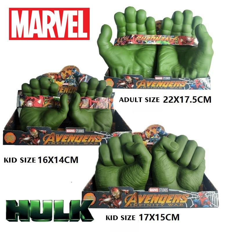 Disney Marvel Avengers Hulk Gloves Figures Fisting Toys Hulk Action Figure Cosplay Marvel Legends Model Toy Gift Children Kid