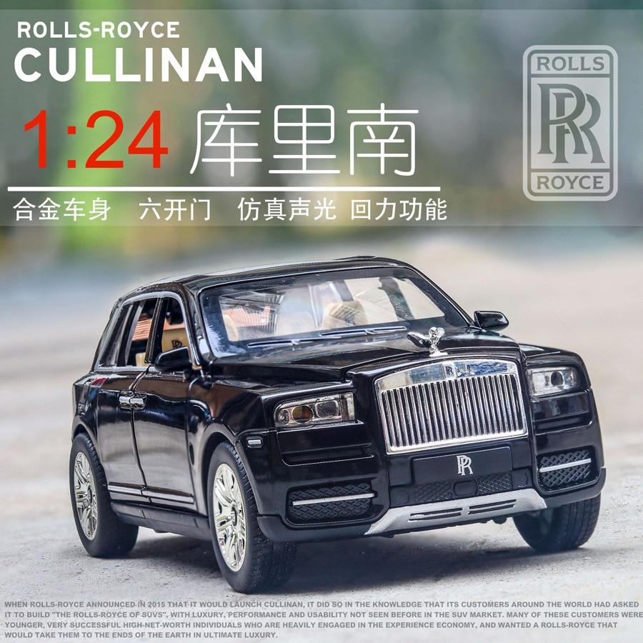 1/24 escala rolls-royce cullinan diecast liga puxar para trás carro colecionável brinquedo presentes