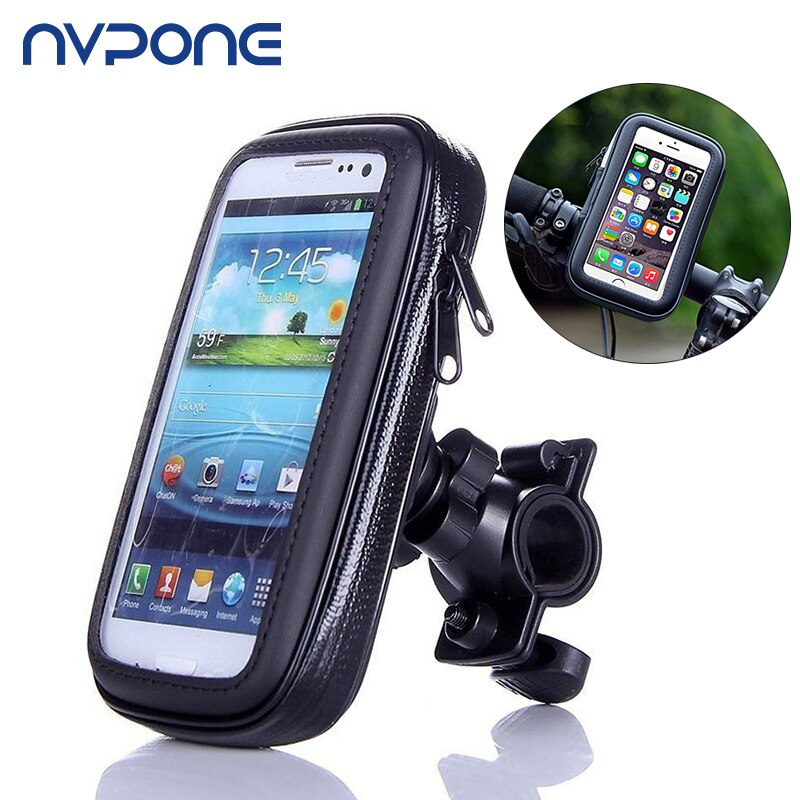 Bike Phone Holder Motocycle Rear View Mirror Stand Mount Waterproof Case Cellphone Holder Cover For