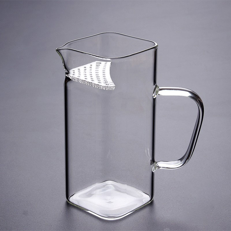 200-400ML de vidrio de borosilicato tetera resistente al calor de vidrio cuadrado taza traer su propio juego de té de leche de té de flor de regalo