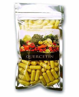 Quercetin (200 mg), cápsulas vegetarianas, sem enchimentos, alívio da alergia 90 cápsulas, suplementos alimentares