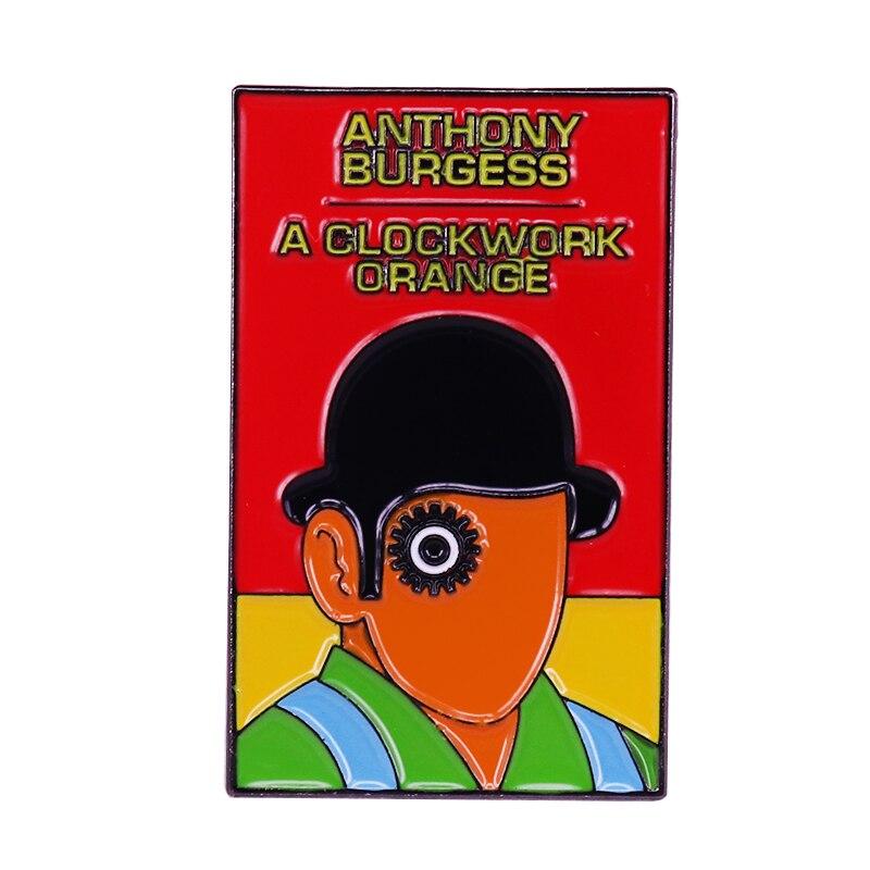 Baddies en los libros Alex de un reloj naranja pin cog-eyed droog cubierta broche