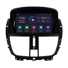 Android 9,0 reproductor de dvd del coche para Peugeot 207 Peugeot 2007-2014 navegación GPS Radio Bluetooth USB multimedia gps mapa
