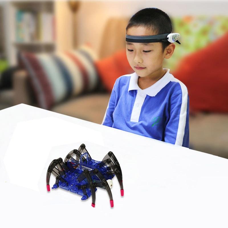 Mindlink RC Spider Robot Headband kit Brainlink Toys EEG Training Novelty High Tech Toys Focus app g
