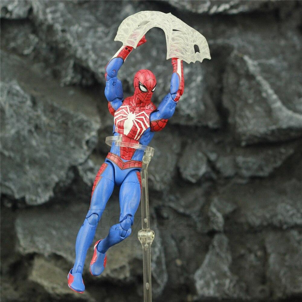 """Marvel selecciona hombre araña PS4 jugador versículo 7 """"figura de acción Spiderman especial Colletor edición Original de DST la muñeca Juguetes"""