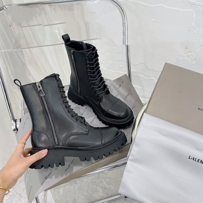 Luxury Brand Martin Boots Women 2021 Autumn New Thick-soled Short Boots Female Chelsea Ankle Boots British Style Ladies Shoes