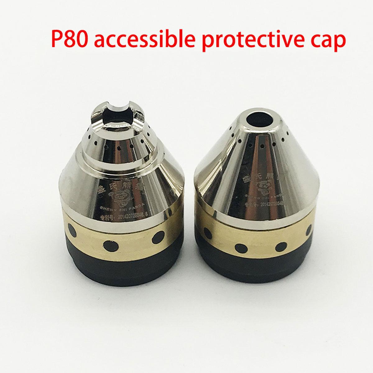 Аксессуары для плазменной горелки P80, режущее сопло, медный защитный колпачок, защитное покрытие с полным покрытием, можно контактировать с ...