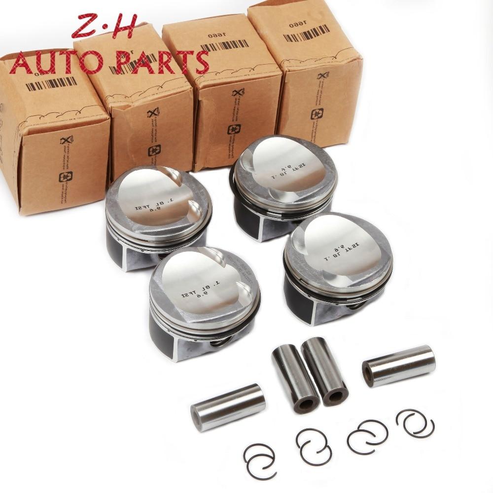 NEW EA888 Modified Engine Piston Ring Kit 06H 107 065 CP For Audi A3 A4 A5 TT VW Passat B6 CC Golf Skoda Seat 1.8TSI Pin 21mm