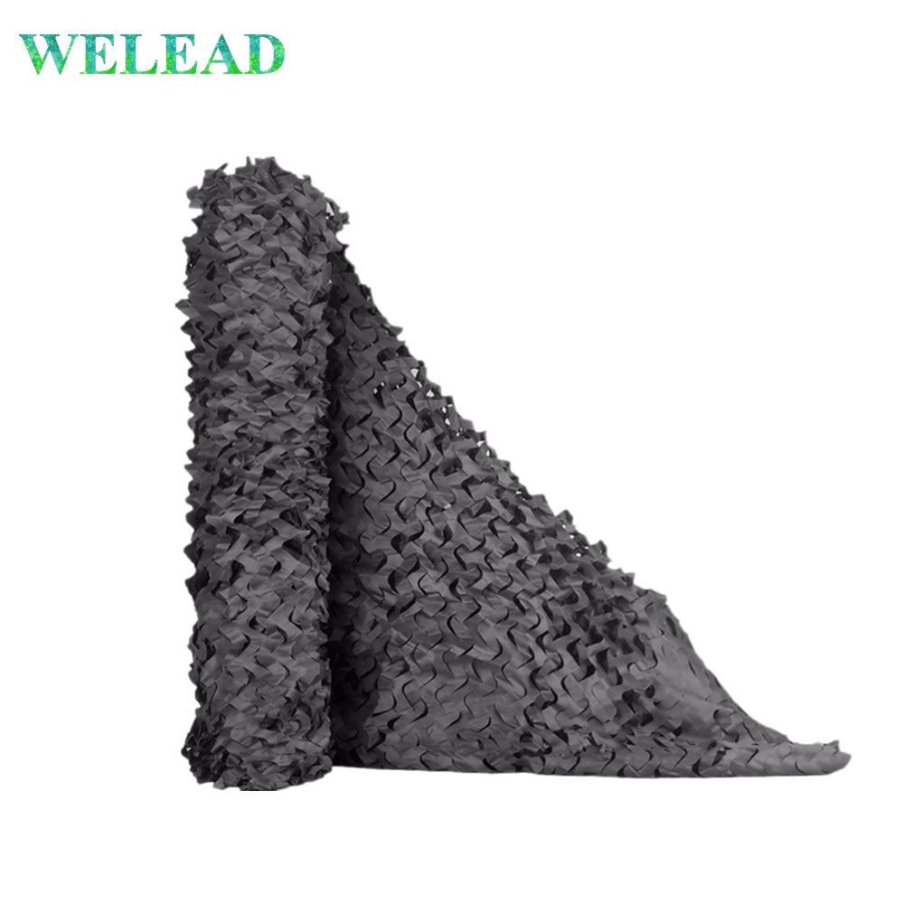 Welead preto 2 m camuflagem rede militar reforçada camo netiting escondendo malha toldo cobertura telhado tenda 2x7 2x8 2x9 2x6 2x5 2x4 2x2