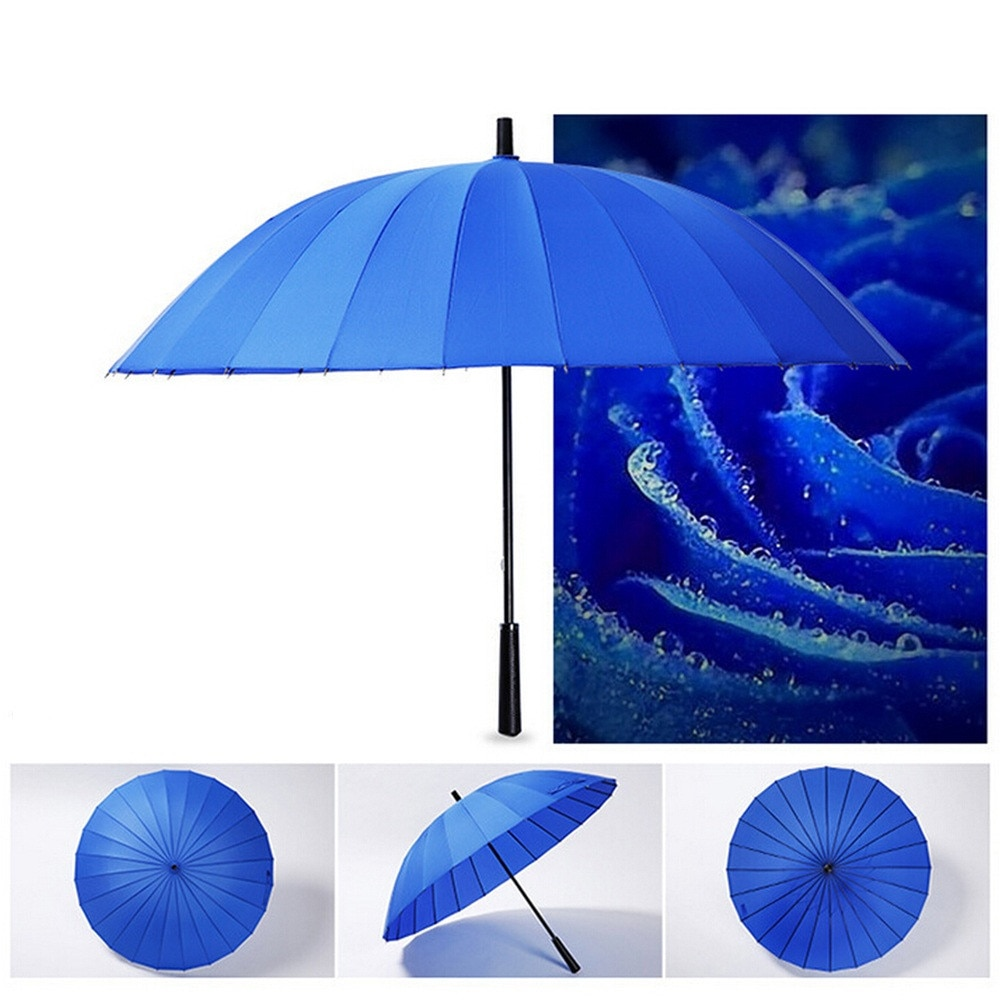 Guarda-chuva 24 o osso super puro cor luz longo lidar com crianças guarda-sol semi reta guarda-sol à prova dumbrella água #45