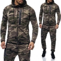 zogaa mens camouflage tracksuit hoodiessweatpants 2 piece sports suit large size fashion sportswear suit casual tracksuit men