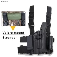 glock 17 compact hand gun belt leg holster tactical pistol holster hunting pistol gun case thigh holster with light