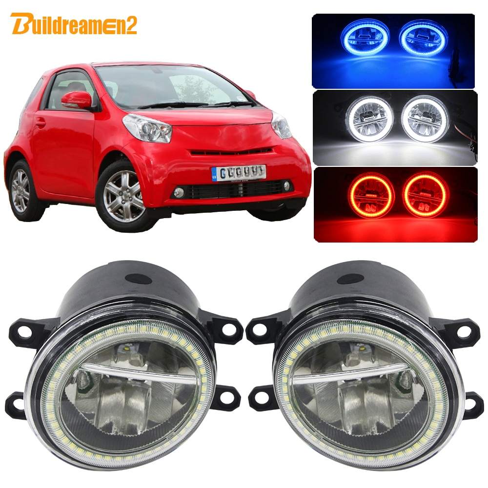 Bombilla LED para Toyota IQ 2009-2013 de 4000LM, luz antiniebla, luz diurna de ojo de Ángel DRL H11 12V, accesorios